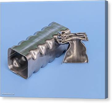 Flashbainite - Maximum Strength Steel - Crush Can V1 Canvas Print by LeeAnn McLaneGoetz McLaneGoetzStudioLLCcom