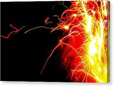 Flashes Of Light Canvas Print by Jose Lopez