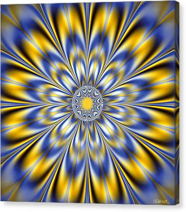 Flashing Star Canvas Print