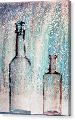 Flask Glass Canvas Print by R Kyllo
