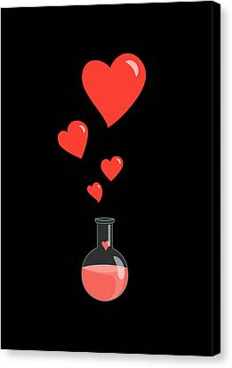 Flask Of Hearts Canvas Print by Boriana Giormova