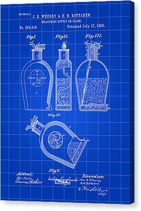 Flask Patent 1888 - Blue Canvas Print