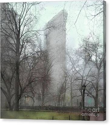 Flat Iron Building Canvas Print by Carrie Joy Byrnes