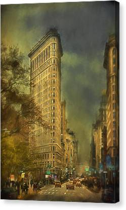Flat Iron Building Canvas Print by Kathy Jennings