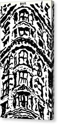 Flat Iron Building Canvas Print by Oscar Penalber