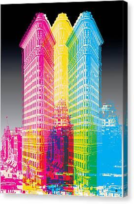 Flat Iron Pop Art Canvas Print