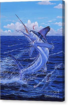 Swordfish Canvas Print - Flat Line Off0077 by Carey Chen