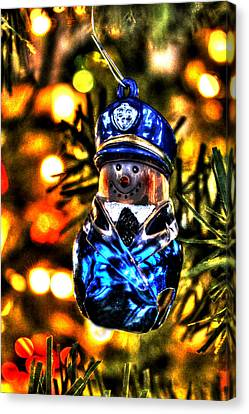 Police Christmas Card Canvas Print - Flatfoot by Ric Potvin