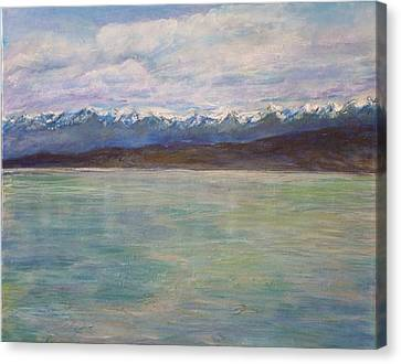 Flathead Lake Montana Canvas Print by Helen Campbell