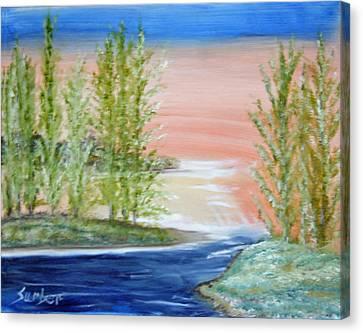 Flathead Lake Sunset Canvas Print