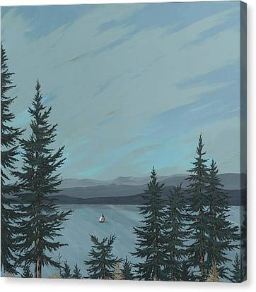 Flathead Sailboat Canvas Print by John Wyckoff
