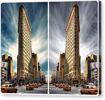 Flatiron Building  Canvas Print by AHcreatrix