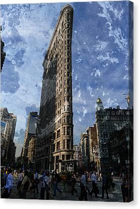 Flatiron Building Manhattan Canvas Print by Richard Reeve
