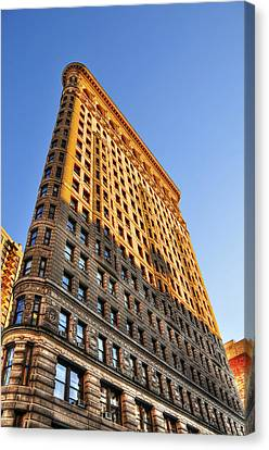 Flatiron Building Profile Too Canvas Print by Randy Aveille