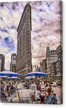 Canvas Print featuring the photograph Flatiron Building by Steve Zimic