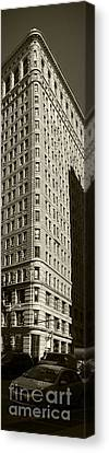 Flatiron In Sepia Canvas Print by David Bearden