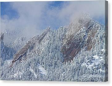 Flatiron Snow Dusting Close Up Boulder Colorado Canvas Print by James BO  Insogna