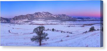 Winter Landscapes Canvas Print - Flatiron Sunrise by Darren  White