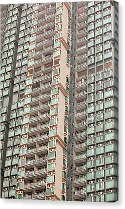 Flats In Kowloon Canvas Print by Ashley Cooper