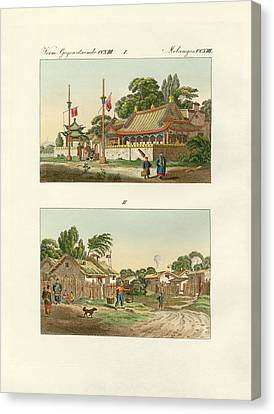 Flats Of The Chinese Canvas Print by Splendid Art Prints
