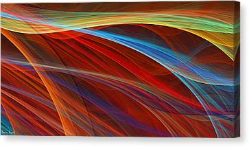 Shades Of Red Canvas Print - Flaunting Colors by Lourry Legarde