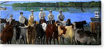Florida Crackers Mural Canvas Print by David Lee Thompson