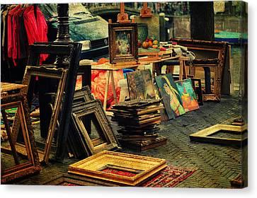 Flea Market. Amsterdam Canvas Print