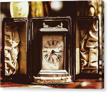 Flea Market Series - Clock Canvas Print by Marco Oliveira