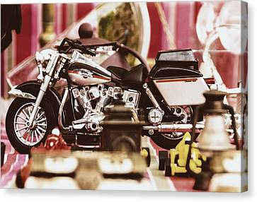 Flea Market Series - Motorcycle Canvas Print by Marco Oliveira