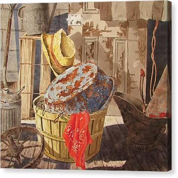 Flea Market Canvas Print by Tony Caviston