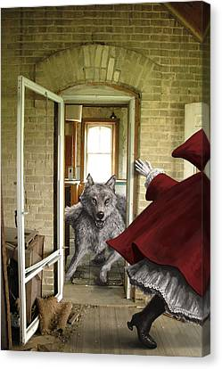 Wolves Canvas Print - Flee by Mark Zelmer