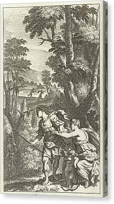 Fleeing Shepherd, Print Maker Abraham Bloteling Canvas Print