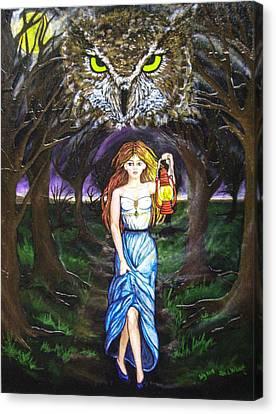Fleeing Wisdom Into Darkness Canvas Print by Jan Wendt