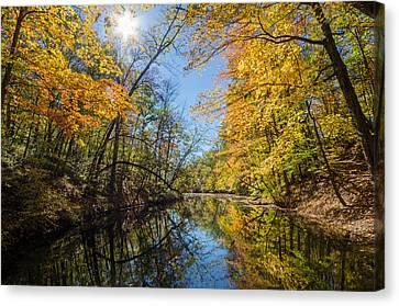 Fleeting Fall  Canvas Print by Susan  McMenamin