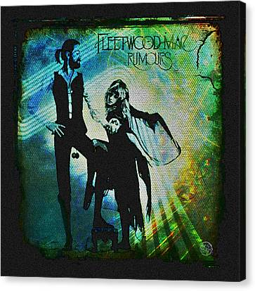 Fleetwood Mac - Cover Art Design Canvas Print by Absinthe Art By Michelle LeAnn Scott