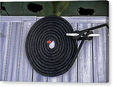 Canvas Print featuring the photograph Flemish Flake Rope Coil by Marty Saccone