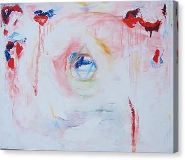 Flesh Of My Heart Canvas Print by Phoenix De Vries