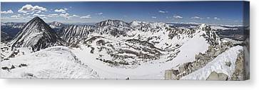 Fletcher Mountain Summit Panorama Canvas Print by Aaron Spong