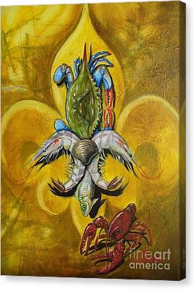 Fleur De Lis Canvas Print by Theon Guillory