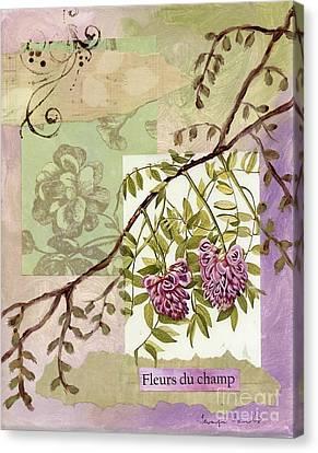 Fleurs Du Champ Canvas Print by Tamyra Crossley