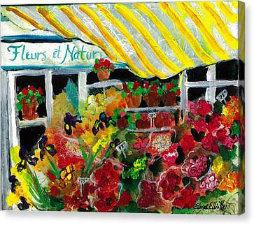 Canvas Print featuring the painting Fleurs Et Nature by Elaine Elliott