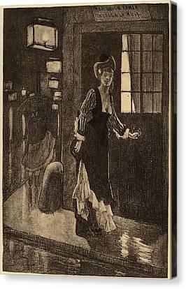 Félicien Rops Belgian, 1833 - 1898, Le Rydeack Canvas Print by Quint Lox