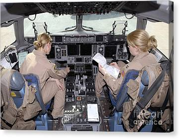 Flight Captains Review Flight Canvas Print by Stocktrek Images
