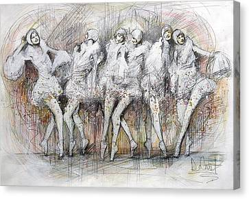 Flight Dancers Canvas Print by Gregory DeGroat
