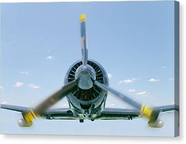 Vintage Air Planes Canvas Print - Flight In Color by Rudy Umans