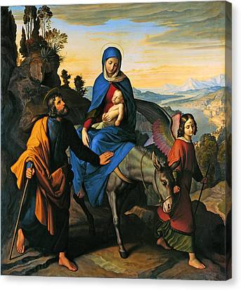 Flight Into Egypt Canvas Print by Mountain Dreams