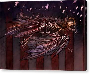 Memorial Day Canvas Print - Flight Of The American Spirit by David Bollt