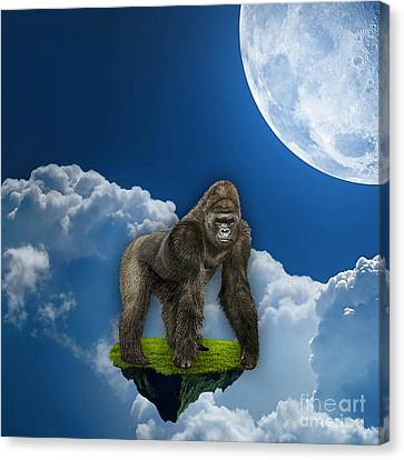 Ape Canvas Print - Flight Of The Ape by Marvin Blaine