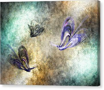 Flight Of The Butterfly Canvas Print by Sharon Lisa Clarke