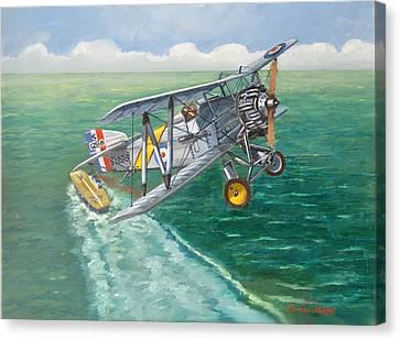 Aviationart Canvas Print - Flight Of The Flycatcher 2 by Murray McLeod
